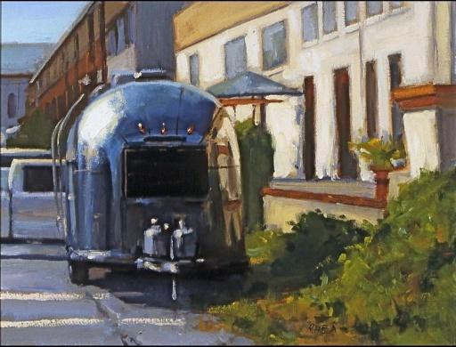 """""""Aluminum Corner"""" 18"""" x 36"""" oil on canvas"""