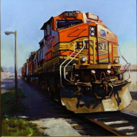 """Big Train"" 48"" x 48"" oil on canvas"