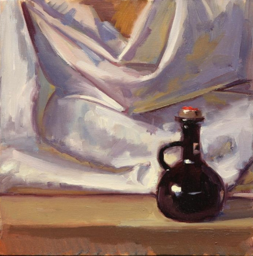 """Folded Vinegar"" 12"" x 12"" oil on canvas"