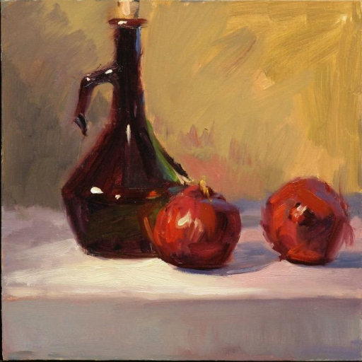 """Glass and Red Onions"" 12"" x 12"" oil on canvas"