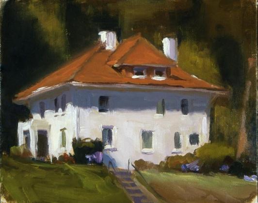 """Presidio"" 9"" x 12"" oil on canvas"