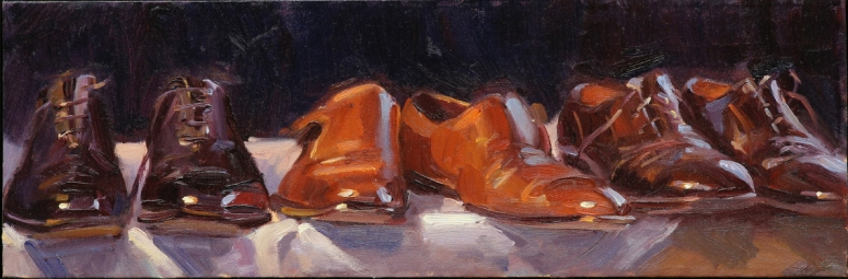 """Shoes"" 12"" x 24"" oil on canvas"