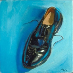"""Teal Wingtip"" 12"" x 12"" oil on canvas"
