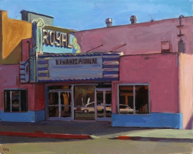 """Valley Theater"" 16"" x 20"" oil on canvas"